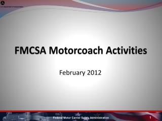 FMCSA Motorcoach Activities