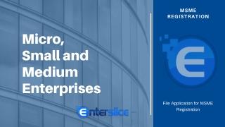 Micro, Small and Medium Enterprises Registration