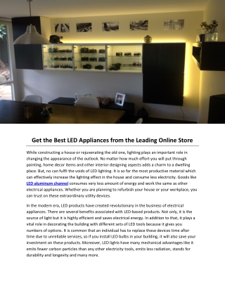 Get the Best LED Appliances from the Leading Online Store