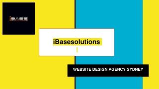 iBasesolutions professional design web development in Sydney