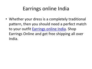 Earrings online India