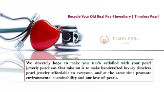 Recycle Your Old Real Pearl Jewellery   Timeless Pearl