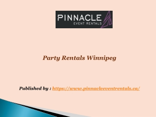 Party Rentals Winnipeg