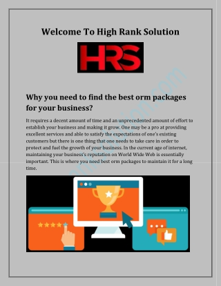 Why you need to find the best orm packages for your business?