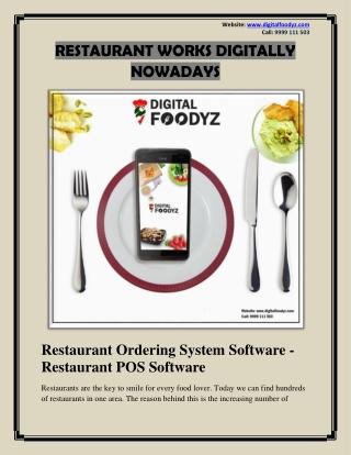 Restaurant Ordering System Software - Restaurant POS Software