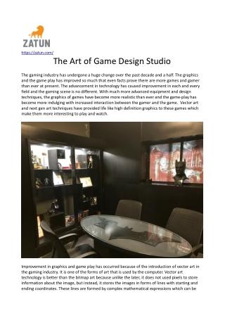 The Art of Game Design Studio