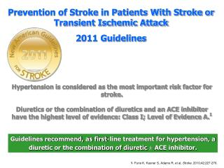 Guidelines recommend, as first-line treatment for hypertension, a diuretic or the combination of diuretic ± ACE inhibit