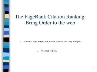 lecture pagerank