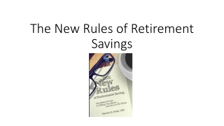 Book marketing The New Rules of Retirement Savings
