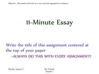 11-Minute Essay