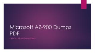 Microsoft AZ-900 Dumps PDF ~ Bright Future [March 2019]