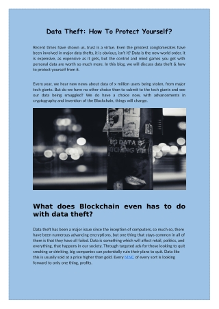 Data Theft: How To Protect Yourself? - Semidot Infotech