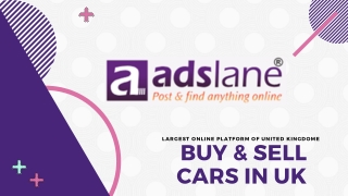 Buy sell and cars in uk