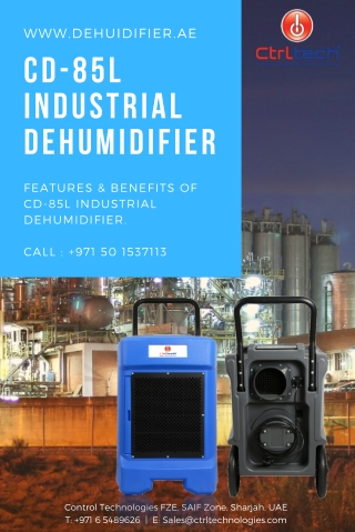 Industrial dehumidifier CD-85L for humidity control at low prices