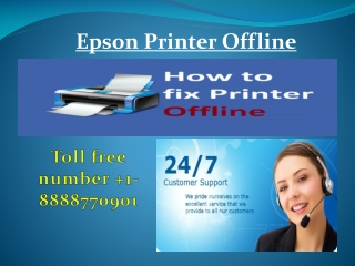 How to Fix Epson Printer Offline in Windows 10   1-888-877-0901