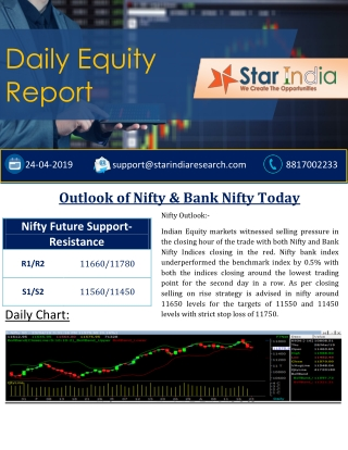 Stock & Equity Market:Outlook of Nifty & Bank Nifty Report