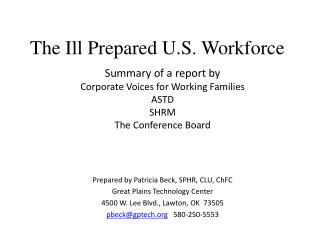 The Ill Prepared U.S. Workforce
