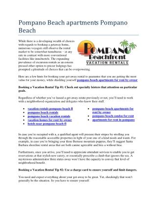 pompano beach rentals