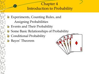 Chapter 4  Introduction to Probability