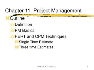 Chapter 11. Project Management