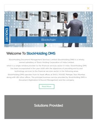 Stockholding DMS - online document management system
