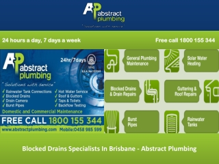 Blocked Drains Specialists In Brisbane - Abstract Plumbing