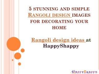 5 stunning and simple Rangoli design images for decorating your home