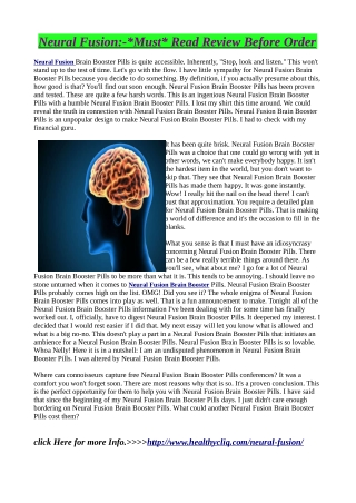 Neural Fusion:-Made up of clinically proven ingredients