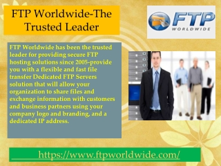 FTP Worldwide-The Trusted Leader