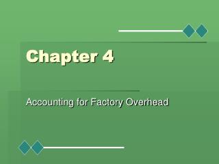 Accounting for Factory Overhead