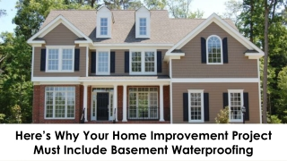 Here's Why Your Home Improvement Project Must Include Basement Waterproofing