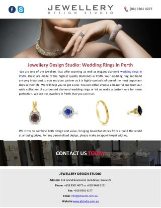 Jewellery Design Studio: Wedding Rings in Perth