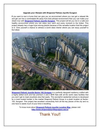 Buy a Luxury Home in Shapoorji Pallonji Joyville Gurgaon