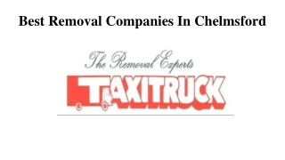 Best Removal Companies In Chelmsford