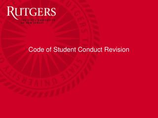 Code of Student Conduct Revision