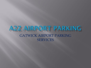 Gatwick airport Parking services