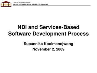 NDI and Services-Based Software Development Process