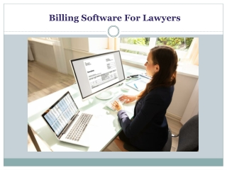 Web Based Billing Software For Lawyers