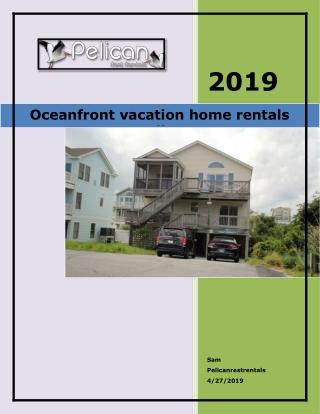 Oceanfront vacation home rentals corolla nc