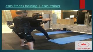 Ems fitness training ems trainer