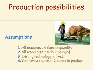 All resources are fixed in quantity All resources are fully employed Existing technology is fixed. You have a choice of
