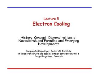 Lecture 5 Electron Cooling