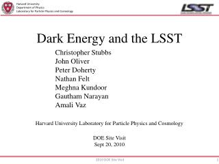 Dark Energy and the LSST