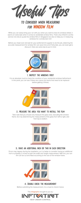 Useful Tips to Consider when Measuring for Window Film