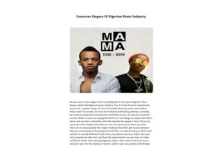 Generous Singers Of Nigerian Music Industry