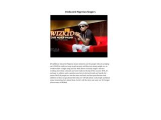 Dedicated Nigerian Singers