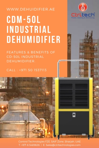 Why best dehumidifier tag for cdm 50 l model?