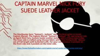 CAPTAIN MARVEL NICK FURY SUEDE LEATHER JACKET