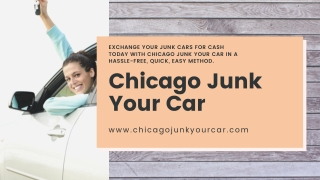 Sell my junk car for $500 chicago