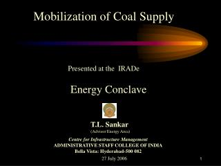 Mobilization of Coal Supply